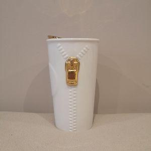 Starbucks 2015 Gold Zipper Travel Mug